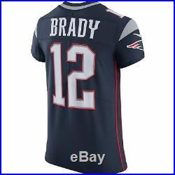 Tom Brady Unsigned Patriots Blue Nike Vapor Elite Jersey Size 48 159379