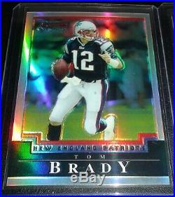 Tom Brady non Rookie/Auto, Rare (2004) Bowman Chrome Refractor /500, Patriots QB