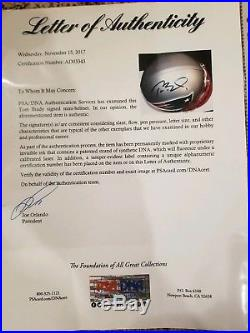 Tom Brady signed mini helmet Full PSA letter autographed New England Patriots
