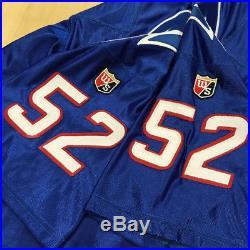 VTG NFL Authentic Wilson New England Patriots Ted Johnson Jersey Sz 48 Pro Line