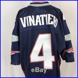 VTG Reebok Authentic Adam Vinatieri New England Patriots Jersey SZ 54 NFL  Sewn 6cf7edc56