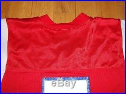 Vintage 1991 HUGH MILLEN Red NEW ENGLAND PATRIOTS 7 Authentic NFL Team JERSEY 44