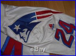 Vintage 99 adidas TY LAW White NEW ENGLAND PATRIOTS Authentic NFL Team JERSEY 52