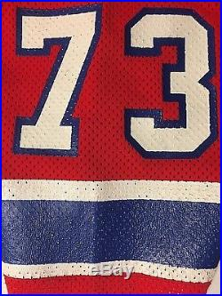 Vintage Authentic Russell John Hannah New England Patriots Game Issue Jersey