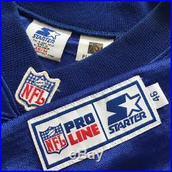 Vintage Authentic Starter NFL New England Patriots Curtis Martin Jersey Sz 46 M