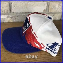 Vintage New England Patriots Logo Athletics Splash Snapback Hat Rare Vtg 90s