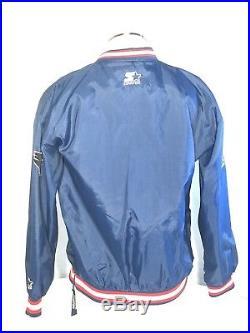 Vintage Starter ProLine Authentic NEW ENGLAND PATRIOTS PullOver Jacket Large EUC