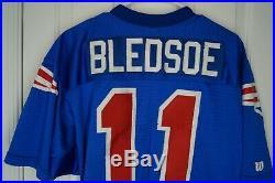 Wilson Proline DREW BLEDSOE NEW ENGLAND PATRIOTS Authentic NFL Team JERSEY Sz 46