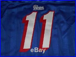 Wilson Proline DREW BLEDSOE NEW ENGLAND PATRIOTS Authentic NFL Team JERSEY Sz 48